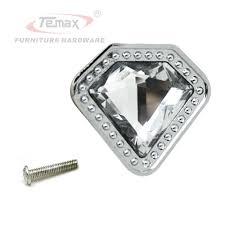 Clear Cabinet Knobs 6 Zinc Alloy Crystal Clear Diamond Dresser Knob Drawer Pulls
