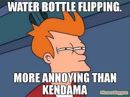 Meme Flip - water bottle flipping more annoying than kendama meme futurama