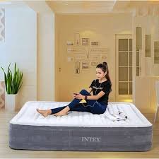 intex beds intex comfort plush full size inflatable beds for adult dura beam
