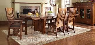 mission style dining room set dining room freed s furnishings