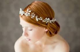 hair accessories headbands bridal headbands unique wedding hair accessories floral crown