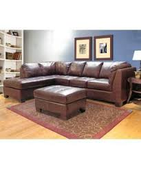 Sectional Sofas Overstock Chocolate Leather Sectional Sofa And Ottoman From Overstock