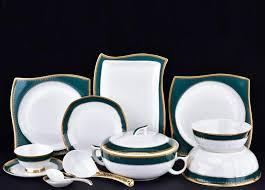 bone china western style tableware porcelain plates bowls spoon
