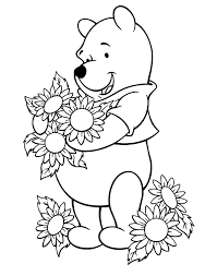 printable free sunflower flowers colouring pages for little kids