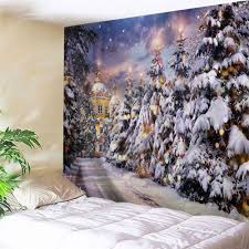 christmas pathway print tapestry wall hanging art colormix w