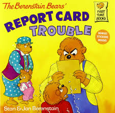 berenstien bears the berenstain bears report card trouble stan berenstain jan