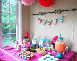 colorful baby shower decorations