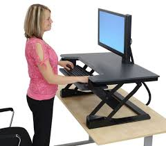 Stand Sit Desk by Ergotron Workfit T Standing Desk Workstation Ergonomic Standing