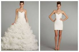 convertible dress 2 in 1 wedding gown