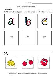 cut and paste alphabet worksheets worksheets