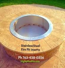 Firepit Liner Stainless Steel Pits With Lift Out Ash Pans Higley Welding