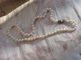 silver necklace clasp images Circa 1950s mikimoto vintage mikimoto cultured pearl necklace jpg