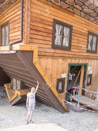 upside down house in szymbark poland it stands on its roof and upside down house in szymbark poland it stands on its roof and visitors walk on