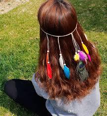 hippie hair accessories 2018 bohemia style women peacock feather headband hippie