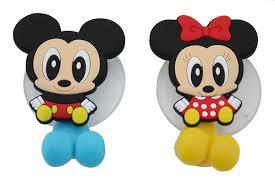 Mickey Minnie Bathroom Decor by Amazon Com Finex Mickey Mouse U0026 Minnie Mouse Toothbrush Holders