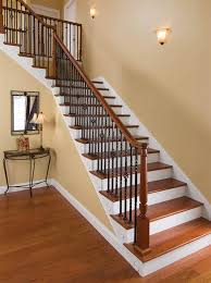 Stair Banister Height Stairs Glamorous Stair Rail Parts Wonderful Burlywood Staircase