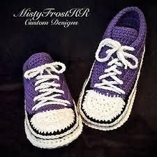 pattern crochet converse slippers ravelry adult converse slippers pattern by misty frost