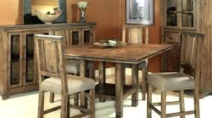 wood counter height table rustic counter height table awesome kitchen excellent dining sets