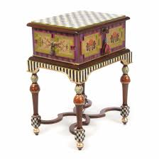 Mackenzie Childs Decorating Ideas Furniture Pretty Box On Stand Table By Mackenzie Childs Sale For