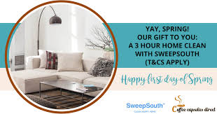 Home Clean Happy Spring Day Here Is Your Sweepsouth Gift Voucher Coffee