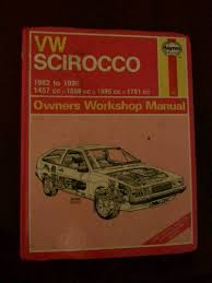vw scirocco owners workshop manual for models from 1982 to 1990