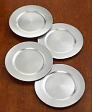 charter club dinnerware set of 4 platinum charger plates ebay