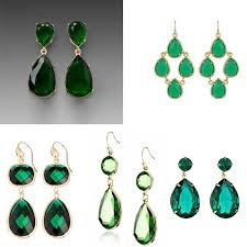 green drop earrings s green earrings for less
