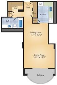 Studio Apartment Layout Studio Floorplan Bed Is A Pull Down Murphy Bed Opening Up The