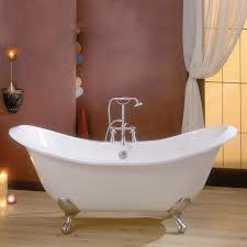 Clawfoot Tub Bathroom Design Ideas Bathroom Exciting Striped Walls With Cozy Clawfoot Tub And Cozy
