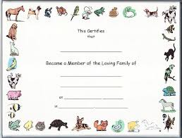 11 best images of printable pet certificates pet adoption