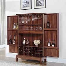 kitchen armoire cabinets amazon com a line furniture wine storage bar armoire cabinet