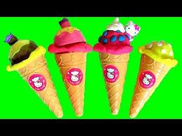 play doh kitty ice cream cone surprise peppa pig u0026 princess