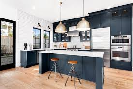 blue modern kitchen cabinets improve the aesthetics of your kitchen with blue mid century