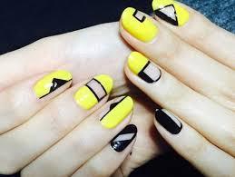 14 alegre con última sobre color amarillo nail artwork designs pra