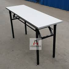 Foot Thick Metal Frame Folding Training Table Folding Conference