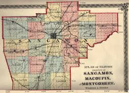 Illinois County Map With Cities by Sangamon County Township Page