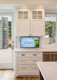 how to hide your tv tvs kitchens and check