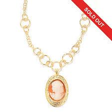 cameo gold necklace images Toscana italiana 18k gold embraced hand carved cameo enhancer w