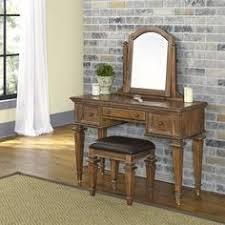 Bench Vanity Powell 429 290 Warm Cherry Mirror Bench Bedroom Vanity Stuff For