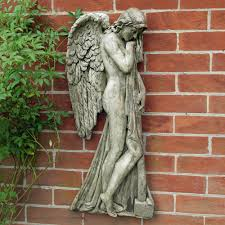 religious angel hanging plaque decor garden wall art s u0026s shop