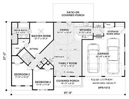 ranch house plan with 3 bedrooms and 2 5 baths plan 3063
