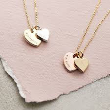 chain necklace heart images Personalised double heart charm necklace by lisa angel jpg