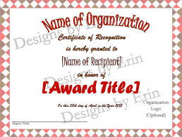 recognition certificate template 7 download free documents in