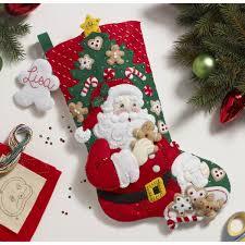 100 seasonal home decorations bucilla seasonal felt shop plaid bucilla seasonal felt stocking kits snack time