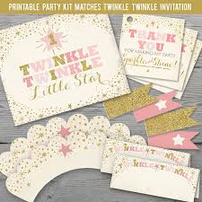 twinkle twinkle decorations twinkle twinkle birthday party kit printable