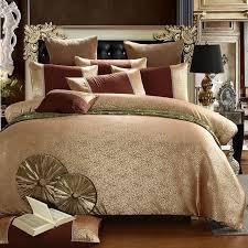 Jacquard Bed Set 2018 New Luxury Tencel Satin Jacquard Bedding Set Bedclothes Bed