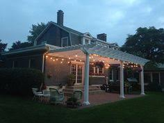 Patio Cafe Lights by Composite Deck With Pvc Trim And Composite Railings Timbertech