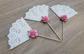 doily cupcake toppers 12 shabby chic toppers wedding bridal