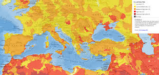 Map Of The Mediterranean Peak Resources Water Stress In The Mediterranean Basin