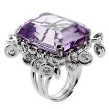 emerald amethyst rings images Dior magnificent emerald cut amethyst diamond gold ring for sale jpg
